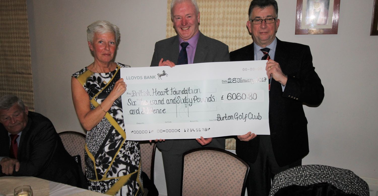 Presenting the Cheque to the Heart Foundation