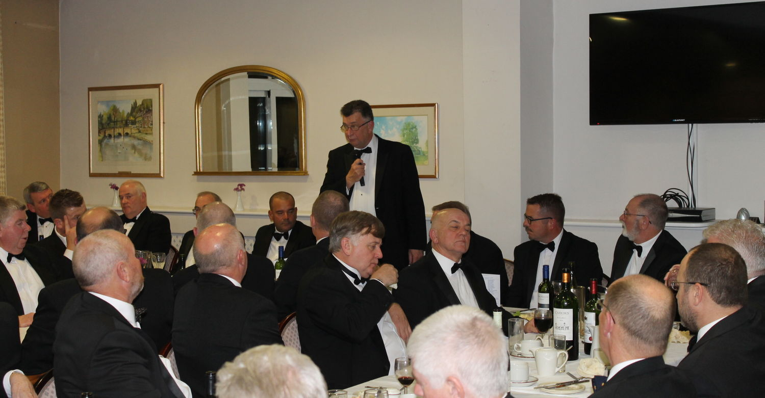 Captains speech at the gents dinner.