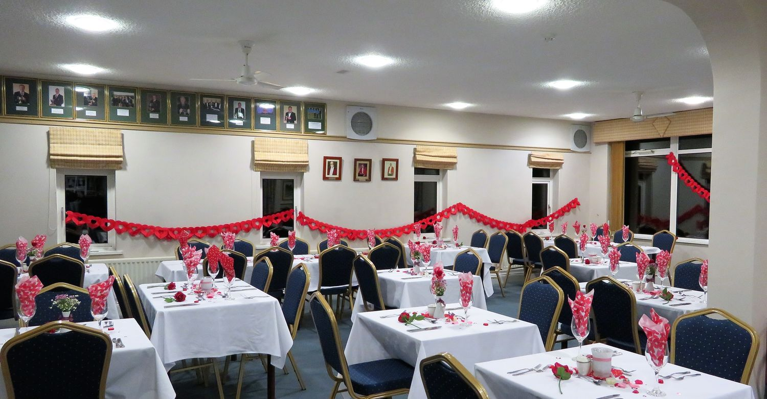 Room decorated to suit the Occasion